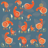 Abstract chickens and hens Stock Photography