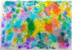Abstract child color  drawing background Stock Image