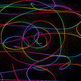 Abstract childish background with colorful lines Royalty Free Stock Images
