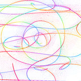 Abstract childish background with colorful lines Royalty Free Stock Photos