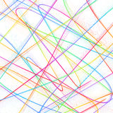 Abstract childish background with colorful lines Stock Photo