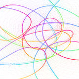 Abstract childish background with colorful lines Royalty Free Stock Photo
