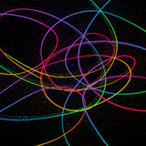 Abstract childish background with colorful lines Stock Photography