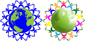 Abstract children of the world. Symbolizing peace, friendship on earth Royalty Free Stock Photography