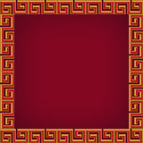 Abstract chinese background, frame and pattern. Abstract chinese new year background, frame and pattern Royalty Free Illustration