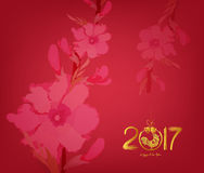 Abstract chinese new year 2017 graphic and background Royalty Free Stock Photos