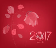 Abstract chinese new year 2017 graphic and background Royalty Free Stock Image