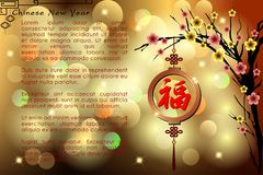 Abstract chinese new year. The meaning are Lucky and Happy. Royalty Free Stock Photography