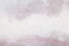 Abstract Chinese painting (mountain landscape) on paper Stock Image
