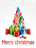 Abstract chirstmas background with sarts Royalty Free Stock Photography