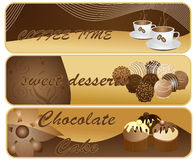 Abstract chocolate banners Stock Image
