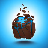 Abstract chocolate candy cube  object Royalty Free Stock Images