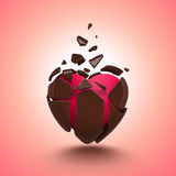 Abstract chocolate candy heart object stock illustration