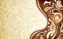 Abstract Chocolate Curve Background Royalty Free Stock Photography
