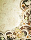 Abstract Chocolate Floral Background Royalty Free Stock Photography