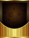 Abstract Chocolate and Gold Floral Background Stock Photo