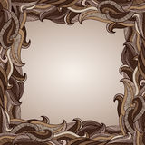 Abstract Chocolate Waves Border Stock Image
