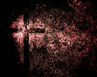 Abstract Christian Cross. An abstract Christian cross with grunge background Stock Photography
