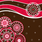 Abstract Christmas. Decorative background with geometric patterns Stock Photo