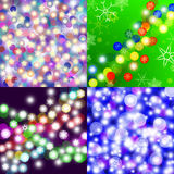 Abstract Christmas 4 backgrounds Stock Images
