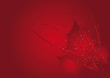 Abstract Christmas background 1. Abstract Christmas background with stars trees and holly in red or blue colors Royalty Free Stock Image