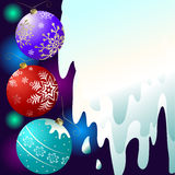 Abstract christmas background. With balls (vector royalty free illustration