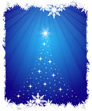 Abstract Christmas background. Blue color Christmas background Royalty Free Stock Photo