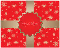 Abstract Christmas background. Red abstract Christmas background with snowflakes Royalty Free Stock Image