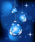 Abstract christmas background. Blue color Christmas background -  illustration Royalty Free Stock Photo