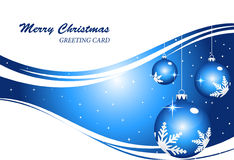 Abstract christmas background. Blue color Christmas background -  illustration Stock Images