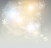 Abstract Christmas background. With white snowflakes, elegant vector illustration Stock Images