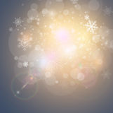 Abstract Christmas background. With snowflakes, vector illustration Stock Photography