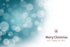 Abstract Christmas background. With white snowflakes Royalty Free Illustration