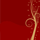 Abstract Christmas background. In gold and red with copy space Royalty Free Stock Photo