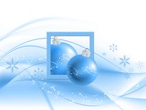 Abstract Christmas background. With snow flakes Royalty Free Stock Images
