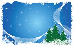 Abstract christmas background. Abstract snowflake christmas background 2009 Royalty Free Illustration