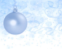 Abstract Christmas background with ball. Christmas ball on beautiful abstract light  background Royalty Free Stock Image