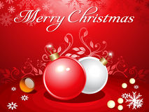 Abstract christmas background with balls royalty free stock image