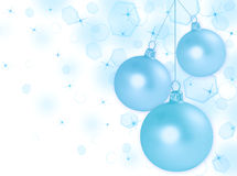Abstract Christmas background with balls Stock Photography