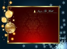 Abstract Christmas Background. Christmas Balls Concept.Vector and Illustration, EPS 10 Stock Photography