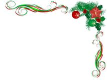 Cards with garlands. Abstract Christmas background with berries and ribbon Royalty Free Stock Image