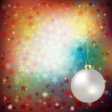 Abstract christmas background blue stars Stock Photo