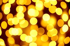 Abstract Christmas Background with Blurred Lights Stock Photography