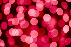 Abstract Christmas Background with Blurred Lights Royalty Free Stock Images