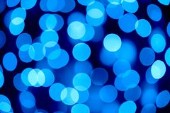 Abstract Christmas Background with Blurred Lights Royalty Free Stock Photo