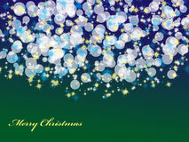 Abstract Christmas Background with bokeh Royalty Free Stock Images