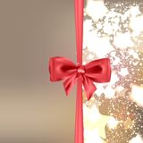 Abstract Christmas background with bow Royalty Free Stock Photography