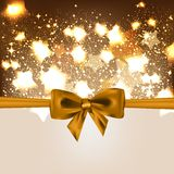 Abstract Christmas background with bow. This is file of EPS10 format Stock Photo