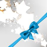 Abstract Christmas background with bow. This is file of EPS10 format Royalty Free Stock Photo