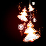 Abstract Christmas background with Christmas tree Royalty Free Stock Photos